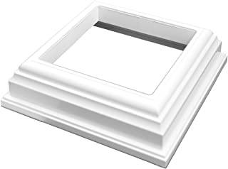 Weatherables Durable White PVC Vinyl New England Post Skirt for A True 4 Inch X 4 Inch Post | Single Pack | AWPT-Skirt-4
