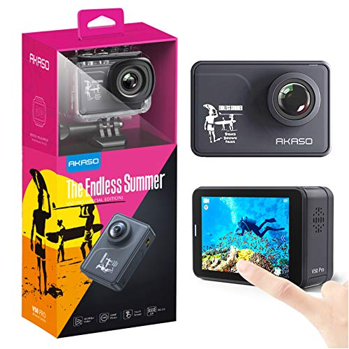 AKASO V50 Pro Endless Summer Special Edition Action Camera Touch Screen 4K30 Waterproof Camera EIS and Wi-Fi Remote Control Sports Camera