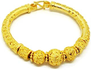 Rare Lai Thai Gold Plated Bangle 23K 24k Thai Baht Yellow Gold Filled Jewelry Women Bracelet Thai Dress Thai Wedding Thai Jewelry