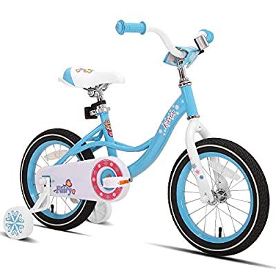 JOYSTAR 14 Inch Kids Bike with Training Wheels for 3 4 5 Years Old Girls, Toddler Cycle for Early Rider, Child Pedal Bike, Blue