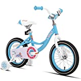 JOYSTAR 12 Inch Kids Bike with Training Wheels for 2 3 4 Years Old Girls, Toddler Cycle for Early Rider, Child Pedal Bike, Blue