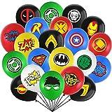 Kit de Suministros de Fiesta de Superhéroe, JPYH Globos de látex de Superhéroes, Kit de decoracion Cumpleaños Superheroes Globos, Superhéroe decoraciones Fiesta Cumpleaños para Niños(32pcs)