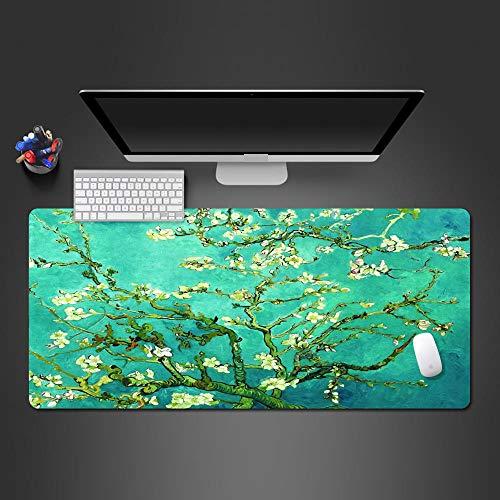 NDLDDDJ Alfombrilla De Ratón Grande Gaming Mouse Pad 900X400X3Mm Patrón De Paisaje Verde Impermeable Cuero PU con Base De Goma Antideslizante Textured Superficie para Gamers Ordenador Laptop Trabajo