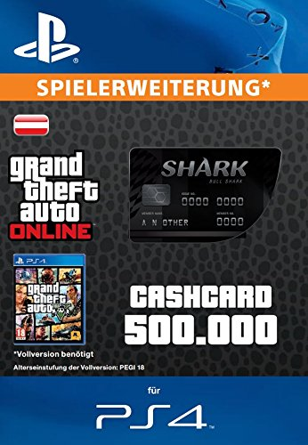 Grand Theft Auto Online | GTA V Bull Shark Cash Card | 500,000 GTA-Dollars | PS4 Download Code - österreichisches Konto