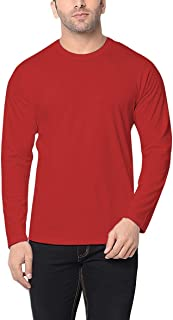 Sponsored Ad - Decrum Plain Long Sleeve Shirt Men - Soft Cotton Full Sleeves Jersey