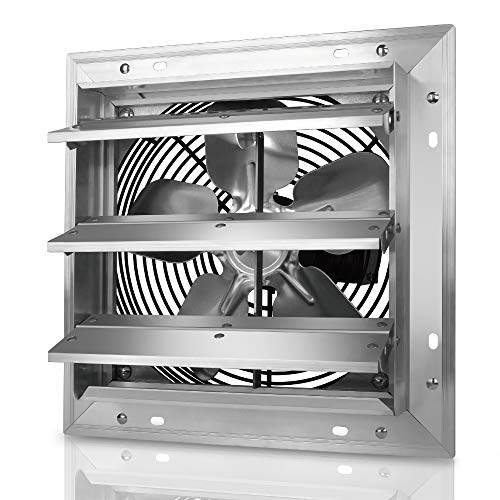 Tornado - 10 Inch Heavy Duty Aluminum High Speed Shutter Exhaust Fan 650 CFM - UL Safety Listed - 5 Years Warranty