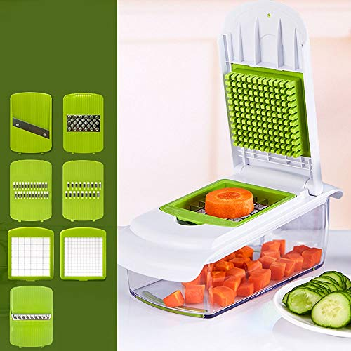Lightlamp Cuchillo de Corte Multifuncional de Cocina artefacto Cepillado Cortador de Alambre de Patata raspado de Alambre cortadora de Fruta en cuadritos (Color : A)