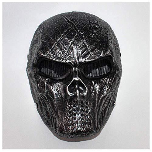 YaPin Halloween Film Marauder Thema Gerechtigkeitsliga Batman Robbe Horror Resin Maske Live CS Show Requisiten (Color : Classical Silver)
