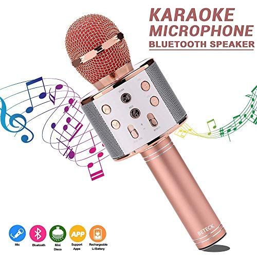 BETECK Micrófono Inalámbrico Karaoke Bluetooth Grabación