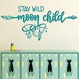 wopiaol TY Autocollants muraux pour Enfants de Lune Sauvage, Autocollants en Vinyle d'art Mural de Maternelle, décoration de Chambre d'enfants B Wild
