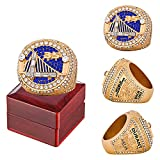 2018 Golden State Basketball Championship Ring Official Version Replica with Wooden Box Men Alloy Ring for Warriors Fan Collection Gift