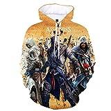 mglxzxxzc Assassin'S Creed 3D Sudadera con Capucha Unisex Niño Niña Niño Streetwear Sudadera Disfraz-Wy8147_4XL