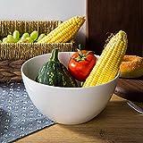 ShiSyan con fondo en blanco profundo de cerámica Ensalada Fruit Bowl |Resistente al calor Postre Tazón |Sano y respetuoso del medio ambiente, fácil de limpiar |Adecuado for restaurantes, cocinas Cuenc