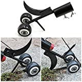 Herramienta de eliminación de malas hierbas con doble rueda, herramienta de jardín para calzadas, aceras y terrazas