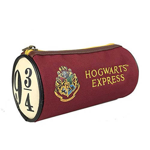 Harry Potter Hogwarts Express 9 3/4 - Neceser (100% poliéster, con Cremallera), Color Rojo