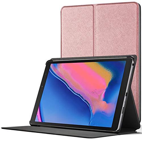 Forefront Cases Funda para Samsung Galaxy Tab A 8.0 2019 - Cover Estuche Protector con Cierre Magnético para Samsung Galaxy Tab A 8.0 2019 P200/P205 - Elegante Delgado Ligero - Oro Rosa