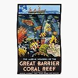 Vintage Australia Travel Great Barrier Coral Reef Vintage