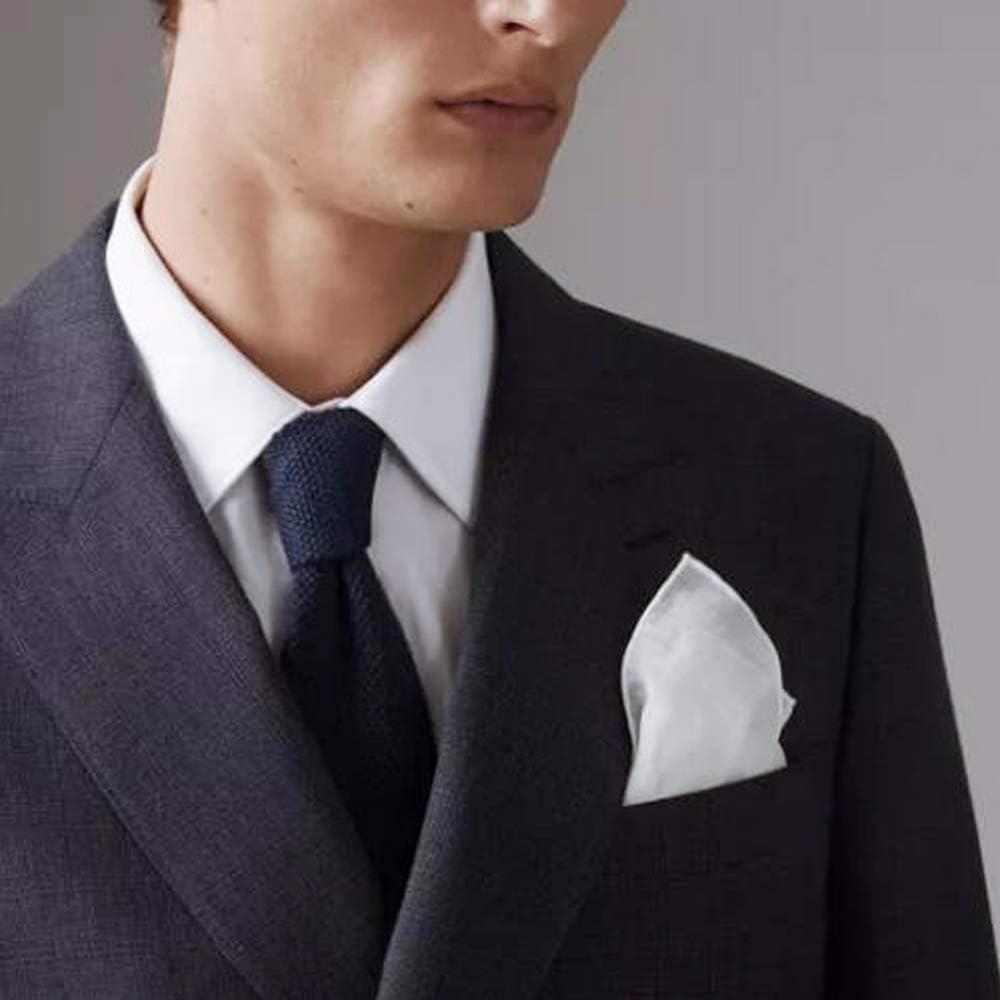 13 Packs Men's White Pure Cotton Basic Handkerchief Hankies, Pocket Square