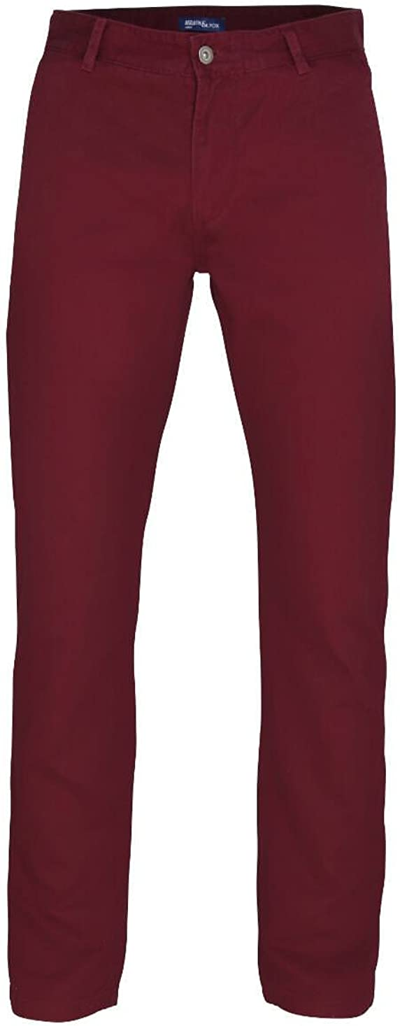 Mens Chino Trousers by Asquith and Fox Purple