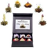 """Creano Tea Variazione di Fiori di Tè """"Tèlini"""" - 'Tè nero e Tè bianco' in elegante Scatola magnetica con Goffratura argento"""