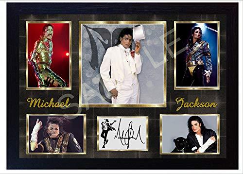 SGH SERVICES Gerahmtes Poster mit Autogramm von Michael Jackson