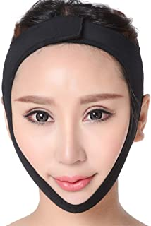 Double Chin Reducer, Face Slimming Cheek Slim Lifting Up Tighten Skin Bandage Remove Mouth Relaxation Pulling Strap Belt