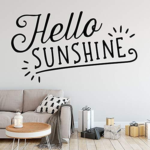 mlpnko Exquisite Sonnenschein Wandaufkleber Selbstklebende Vinyl wasserdichte Wandkunst Aufkleber abnehmbare Wandtattoo 36X63cm