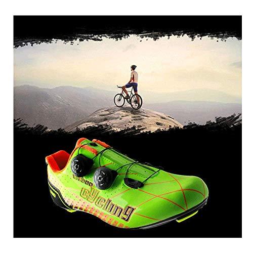 FACAI Rennradschuhe Ultraleichter Fahrradschuh Carbon-Fahrradschuhe Professionelle Leichte Rennradschuhe,Orange-45