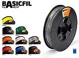 Basicfil BASICFIL-PLA175-500-SILVER, 1.75 mm, 500 gr Filamento de Impresión 3D, Plata