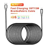 10ft Charging Cable USB Phone Charger Cable 3m Long Cell-Phone Cord Braided fabric