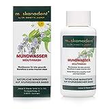 Muskanadent - Enjuague bucal y limpiador dental ayurvédico | Aliento fresco con extracto de salvia y manzanilla | Aroma de bayas | Higiene bucal vegana | 100 ml