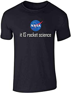 Pop Threads NASA Approved Space Program Logo Retro Graphic Graphic Tee T-Shirt for Men