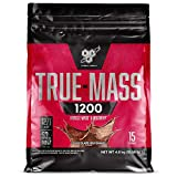 BSN True Mass 1200, Mass Gainer Protein Powder with Milk Proteins and Carbohydrate for Muscle Gain and Recovery, Chocolate Milkshake, 4.8 kg, 15 Servings