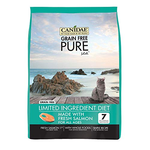 Canidae 3317 Grain Free Pure Sea Cat Dry Formula With Fresh Salmon, 10 Lbs