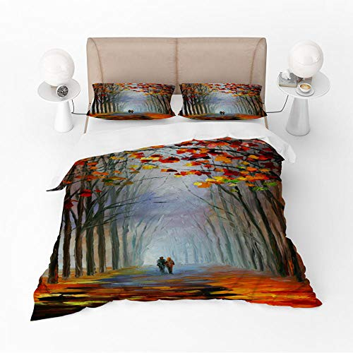 Duvet Cover Set King-HollowZipper Closure with 2 Pillow covers Bedding Set Ultra Soft Hypoallergenic Microfiber Quilt Cover Sets