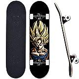 Animación estándar de monopatín Siete Dragon Ball, Skate de 31 * 8 Pulgadas, Adecuado para Principiantes, Chico, monopatín Adolescente Completo-A2_31 Pulgadas