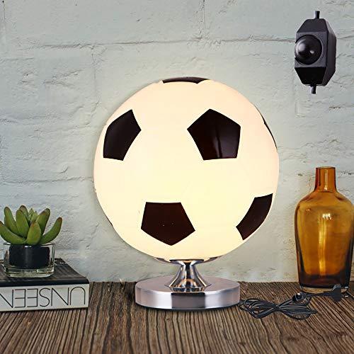 E27 Lampara Mesilla De Noche, Fútbol Lámpara De Mesa Creativa, Lámpara Infantil De Mesilla, Luz Nocturna LED Moderna Para Dormitorio, Lámpara De Mesa Para Decoración, Creative Regalo