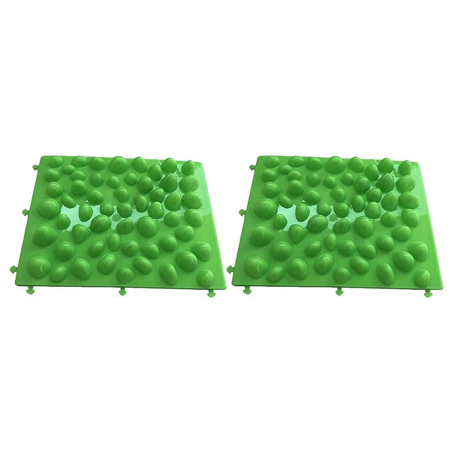 ヒープ癒す固体B Blesiya フットマッサージ 足のマッサージパッド フットマット プラスチック製石 血行促進 フットケア 2個入