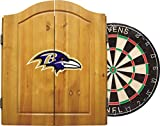 Imperial Official NFL Dart Boards for Adults with Cabinet, 6 Steel Tip Darts, Chalkboard Scorers, Atlanta Falcons - Professional Bristle Dartboard Set - Premium Game Room Accessories and Decor