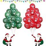Globos de Navidad, 100 Piezas de Globos de decoración de Fiesta de Navidad - Regalo Ideal para Cena Y Celebración De Navidad - Adorno Festivo Colgante para Fiesta De Temporada