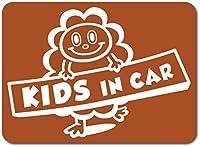imoninn KIDS in car ステッカー 【マグネットタイプ】 No.48 モクモクさん (茶色)