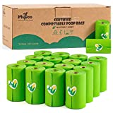 Pkpoo Compostable Poop Bags Certified, 240 Plant-Based Poop Bags for Dogs, Unscented Doggie Waste Bags - Vegetable-Based Extra Thick with 100% Leak-Proof, Green Poo Bags