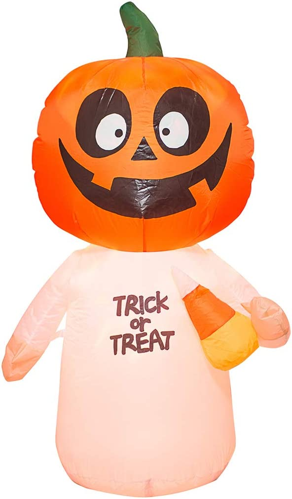 AJY 4 Feet Halloween Max 73% OFF Pumpkin Light with LED Max 82% OFF Inflatable Ghost