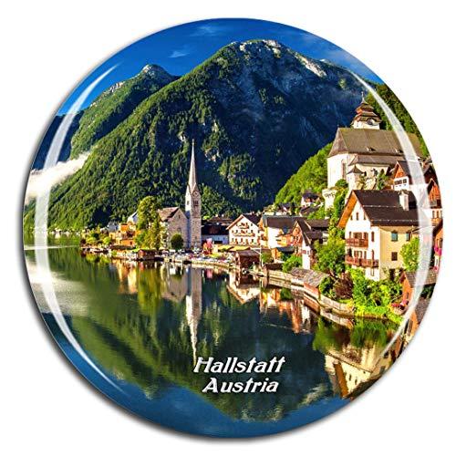 Weekino Austria Lake Hallstatt Imán de Nevera 3D de Cristal de la Ciudad de Viaje Recuerdo Colección de Regalo Fuerte Etiqueta Engomada refrigerador
