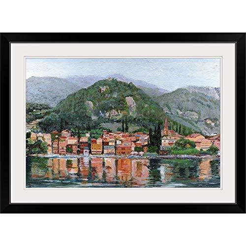 "GREATBIGCANVAS Varenna, Lake Como, Italy, 2004"" Black Framed Wall Art Print36 x24 x1"