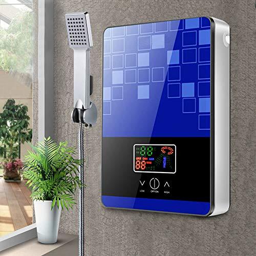 Jasemy - Calentador de agua caliente instantaneo para bano (digital, sin deposito, digital, electrico, sin deposito, 6500 W), color azul