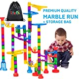 Stoie's Marble Run Set - 109 Full Pieces - Marble Maze Race Track Game for Kids 4, 5, 6 Years Old - STEM Building Toy for Boys and Girls