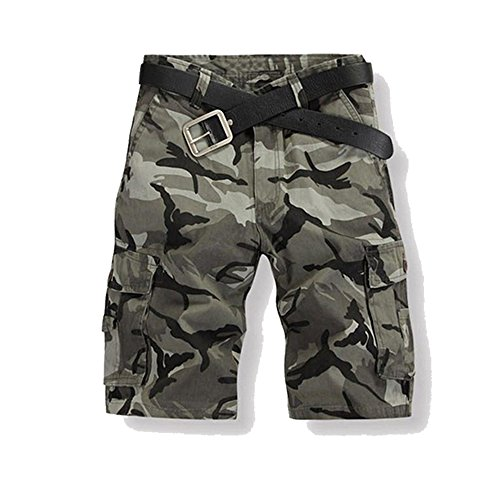 Just No Logo Just No Logo Herren Cargo Shorts kurze Hosen Camo Bermuda Bundhose, Grau,S/32