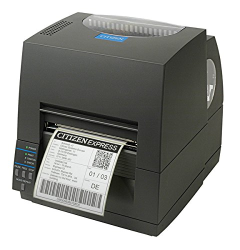 Citizen 1000817 - CL-S621 ETIKETTENDRUCKER - CL-S621 Etikettendrucker, Thermodirekt + Thermotransfer, 203dpi, graues Gehäuse, inklusive Farbbandhalter, Musterfarbbandrolle, Rollenkern, Druckkopfreiniger, Musterpapierrolle, Netzkabel, CD-ROM, Schnellstartanleitung
