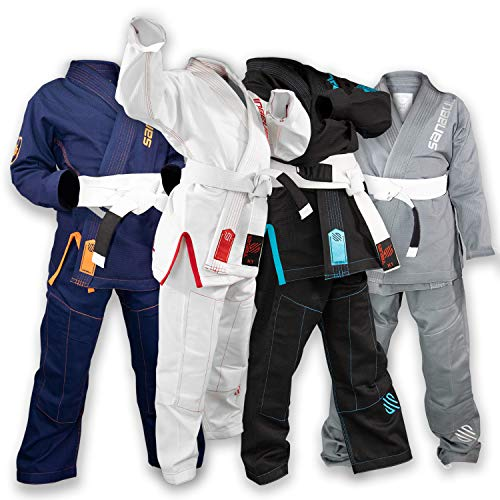 Sanabul Future Legend Kids Brazilian Jiu Jitsu BJJ Gi (White/Red, K1)